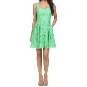 Shoshanna lace fit and flare dress size 6